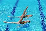 Synchronized Swimming                                                                                                                                                                                    Stock Photo - Premium Rights-Managed, Artist: Aflo Sport               , Code: 858-03053207