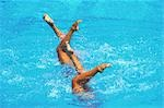 Synchronized Swimming                                                                                                                                                                                    Stock Photo - Premium Rights-Managed, Artist: Aflo Sport               , Code: 858-03053208