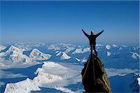 extreme terrain - Mountain Climbing                                                                                                                                                                                        Stock Photo - Premium Rights-Managednull, Code: 858-03053358