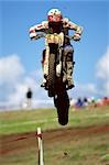 Motocross Dirtbike Racing                                                                                                                                                                                Stock Photo - Premium Rights-Managed, Artist: Aflo Sport               , Code: 858-03053443