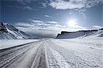 Snow Covered Road, Outside of Vik, Iceland Stock Photo - Premium Royalty-Free, Artist: Atli Mar Hafsteinsson    , Code: 600-03053859
