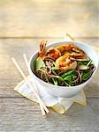 Shrimp Salad With Sugar Snap Beans and Cucumber on Soba Noodles                                                                                                                                          Stock Photo - Premium Rights-Managed, Artist: Yvonne Duivenvoorden     , Code: 700-03053813