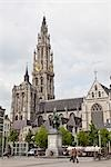 Cathedral of Our Lady, Grote Markt, Antwerp, Belgium                                                                                                                                                     Stock Photo - Premium Rights-Managed, Artist: Tomasz Rossa             , Code: 700-03053912