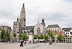Cathedral of Our Lady, Grote Markt, Antwerp, Belgium                                                                                                                                                     Stock Photo - Premium Rights-Managed, Artist: Tomasz Rossa             , Code: 700-03053913