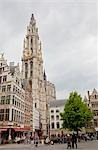 Cathedral of Our Lady, Grote Markt, Antwerp, Belgium                                                                                                                                                     Stock Photo - Premium Rights-Managed, Artist: Tomasz Rossa             , Code: 700-03053915