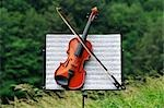 Violin on Music Stand