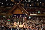 Sumo wrestlers, Grand Taikai Sumo Wrestling Tournament, Kokugikan Hall Stadium, Ryogoku district, Tokyo, Japan, Asia                                                                                     Stock Photo - Premium Rights-Managed, Artist: Robert Harding Images    , Code: 841-03054808