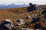 Black Bluff mountain with Cradle Mountain in the distance, Tasmania, Australia, Pacific                                                                                                                  Stock Photo - Premium Rights-Managed, Artist: Robert Harding Images    , Code: 841-03055056