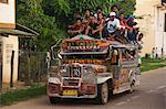 Jeepney truck with passengers crowded on roof, Coron Town, Busuanga Island, Palawan Province, Philippines, Southeast Asia, Asia                                                                          Stock Photo - Premium Rights-Managed, Artist: Robert Harding Images    , Code: 841-03055263
