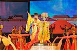 Tang Dynasty dance dating from between 618 and 907AD and Music Show at the Sunshine Grand Theatre, Xian City, Shaanxi Province, China, Asia                                                              Stock Photo - Premium Rights-Managed, Artist: Robert Harding Images    , Code: 841-03055638