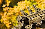 Autumn colours and ornamental Chinese style decorative figures on a pavilion in Ritan Park, Beijing, China, Asia                                                                                         Stock Photo - Premium Rights-Managed, Artist: Robert Harding Images    , Code: 841-03055758