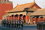Military soldiers drill marching outside the Forbidden City Palace Museum, UNESCO World Heritage Site, Beijing, China, Asia                                                                              Stock Photo - Premium Rights-Managed, Artist: Robert Harding Images    , Code: 841-03055969