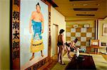Picture of champion sumo wrestler, Tokyo City, Honshu Island, Japan, Asia                                                                                                                                Stock Photo - Premium Rights-Managed, Artist: Robert Harding Images    , Code: 841-03056196