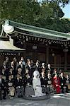 Wedding ceremony, Meiji Shrine, Harajuku, Tokyo, Honshu, Japan, Asia                                                                                                                                     Stock Photo - Premium Rights-Managed, Artist: Robert Harding Images    , Code: 841-03056315