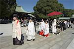 Wedding ceremony, procession, Meiji Shrine, Harajuku, Tokyo, Honshu, Japan, Asia                                                                                                                         Stock Photo - Premium Rights-Managed, Artist: Robert Harding Images    , Code: 841-03056316