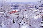 Snow covered Mala Strana and Stare Mesto rooftops, Prague, Czech Republic, Europe                                                                                                                        Stock Photo - Premium Rights-Managed, Artist: Robert Harding Images    , Code: 841-03056883
