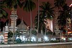Jamek Mosque at night, a good example of North Indian Islamic architecture, Kuala Lumpur, Malaysia, Southeast Asia, Asia