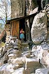 Tarahumara Indian child and house, Mexico, North America                                                                                                                                                 Stock Photo - Premium Rights-Managed, Artist: Robert Harding Images    , Code: 841-03057113