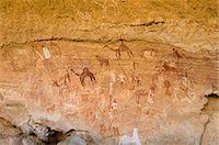 prehistoric - Prehistoric rock paintings, Akakus, Sahara desert, Fezzan, Libya, North Africa, Africa                                                                                                                   Stock Photo - Premium Rights-Managednull, Code: 841-03058518