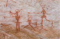 prehistoric - Prehistoric rock paintings, Akakus, Sahara desert, Fezzan, Libya, North Africa, Africa                                                                                                                   Stock Photo - Premium Rights-Managednull, Code: 841-03058539