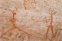 prehistoric - Prehistoric rock paintings, Akakus, Sahara desert, Fezzan, Libya, North Africa, Africa                                                                                                                   Stock Photo - Premium Rights-Managednull, Code: 841-03058549
