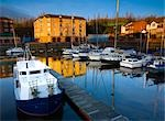 Moored Boats in Marina, St Peter's Basin, Newcastle Upon Tyne, Tyne and Wear, England Stock Photo - Premium Royalty-Free, Artist: Jason Friend             , Code: 600-03059325