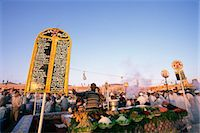 food stalls - Food stalls, Place Jemaa El Fna (Djemaa El Fna), Marrakesh (Marrakech), Morocco, North Africa, Africa                                                                                                    Stock Photo - Premium Rights-Managednull, Code: 841-03060576