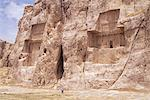 Tombs of Darius II and Artaxerxes (left to right), Naqsh e Rustam (Naqsh-i-Rustem), Iran, Middle East                                                                                                    Stock Photo - Premium Rights-Managed, Artist: Robert Harding Images    , Code: 841-03060722