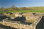 Headquarters building, Roman settlement and fort at Vindolanda, Roman Wall south, UNESCO World Heritage Site, Northumbria, England, United Kingdom, Europe                                               Stock Photo - Premium Rights-Managed, Artist: Robert Harding Images    , Code: 841-03061118