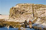Two climbers head for the crags at Steel Rigg, Hadrians Wall, UNESCO World Heritage Site, Northumbria, England, United Kingdom, Europe                                                                   Stock Photo - Premium Rights-Managed, Artist: Robert Harding Images    , Code: 841-03061533