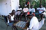 Fishermen playing checkers, Charlotteville, Tobago, West Indies, Caribbean, Central America                                                                                                              Stock Photo - Premium Rights-Managed, Artist: Robert Harding Images    , Code: 841-03061743