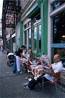 restaurant new york manhattan - Young people outside the Colonial cafe in Nolita neighbourhood, Manhattan, New York, United States of America, North America                                                                             Stock Photo - Premium Rights-Managednull, Code: 841-03061836