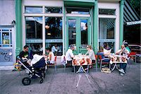 restaurant new york manhattan - Young people outside the Colonial cafe in Nolita neighbourhood, Manhattan, New York, United States of America, North America                                                                             Stock Photo - Premium Rights-Managednull, Code: 841-03061837