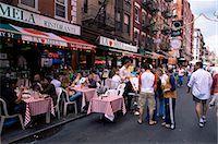 restaurant new york manhattan - People sitting at an outdoor restaurant, Little Italy, Manhattan, New York, New York State, United States of America, North America                                                                      Stock Photo - Premium Rights-Managednull, Code: 841-03061839