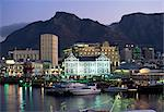 The Victoria and Alfred waterfront, in the evening, Cape Town, South Africa, Africa