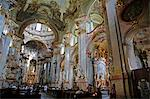 The Baroque interior of St. Nicholas Church in Mala Strana, Prague, Czech Republic, Europe                                                                                                               Stock Photo - Premium Rights-Managed, Artist: Robert Harding Images    , Code: 841-03062201