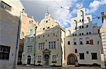 Architecture of the Old Town (the Three Brothers), Riga, Latvia, Baltic States, Europe                                                                                                                   Stock Photo - Premium Rights-Managed, Artist: Robert Harding Images    , Code: 841-03062906