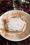 Bstilla, Moroccan pie with pigeon, raisin, sugar, cinnamon, Morocco, North Africa, Africa