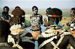 Fertility dance, Karo tribe, Omo River, Ethiopia, Africa