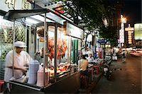 food stalls - Chinatown, Bangkok, Thailand, Southeast Asia, Asia                                                                                                                                                       Stock Photo - Premium Rights-Managednull, Code: 841-03065403