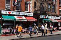 restaurant new york manhattan - Restaurant in Little Italy in Lower Manhattan, New York City, New York, United States of America, North America                                                                                          Stock Photo - Premium Rights-Managednull, Code: 841-03065617