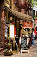 restaurant new york manhattan - Restaurant in Little Italy in Lower Manhattan, New York City, New York, United States of America, North America                                                                                          Stock Photo - Premium Rights-Managednull, Code: 841-03065619