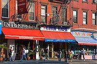 restaurant new york manhattan - Restaurants on 8th Avenue in Chelsea District, Midtown Manhattan, New York City, United States of America, North America                                                                                 Stock Photo - Premium Rights-Managednull, Code: 841-03065630