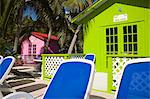 Beach cabanas, Princess Cays, Eleuthera Island, Bahamas, West Indies, Central America                                                                                                                    Stock Photo - Premium Rights-Managed, Artist: Robert Harding Images    , Code: 841-03065949