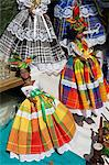Dolls, Craft Market in La Savane Park, Fort-de-France, Martinique, French Antilles, West Indies, Caribbean, Central America                                                                              Stock Photo - Premium Rights-Managed, Artist: robertharding, Code: 841-03066042
