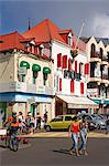 Stores on Ernest Deproge Street, Fort-de-France City, Martinique, French Antilles, West Indies, Caribbean, Central America                                                                               Stock Photo - Premium Rights-Managed, Artist: robertharding, Code: 841-03066056