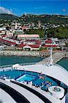 Docked cruise ship, Esplanade area, St. George's, Grenada, Windward Islands, Lesser Antilles, West Indies, Caribbean, Central America