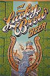 Beer mural on casino wall, Black Hawk City, Rocky Mountains, Colorado, United States of America, North America                                                                                           Stock Photo - Premium Rights-Managed, Artist: Robert Harding Images    , Code: 841-03066215