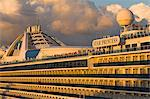Side of a cruise ship, Port Everglades, Fort Lauderdale, Florida, United States of America, North America