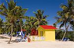 Beach cabana, Princess Cays, Eleuthera Island, Bahamas, West Indies, Central America                                                                                                                     Stock Photo - Premium Rights-Managed, Artist: Robert Harding Images    , Code: 841-03066260